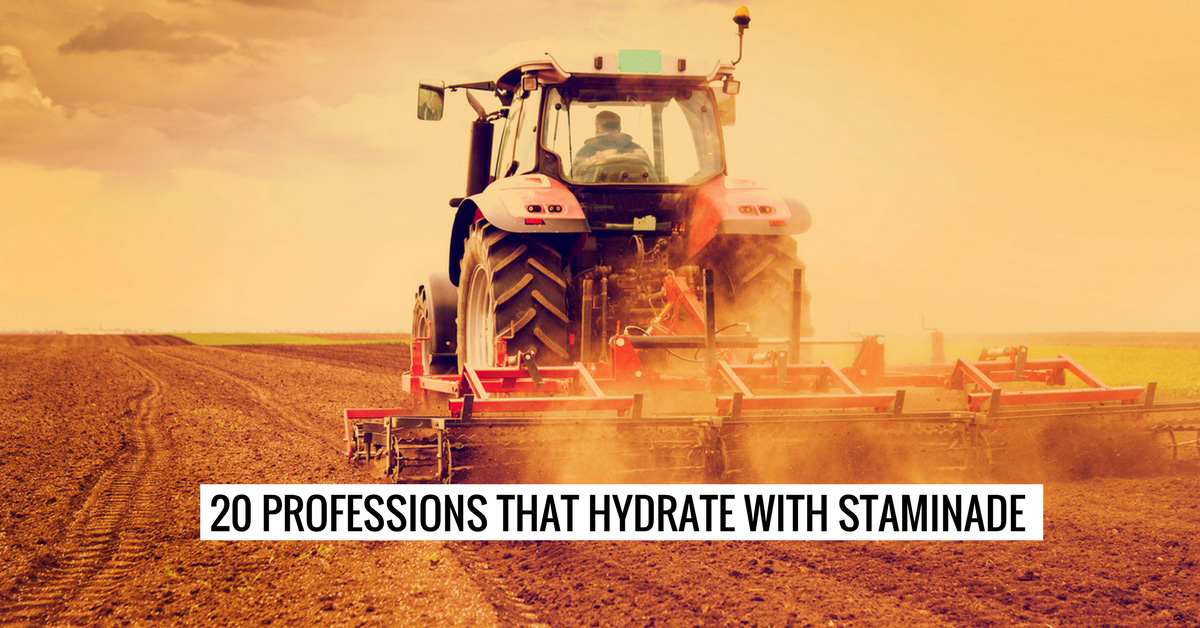 20 Professions that Hydrate with Staminade