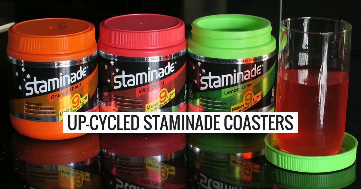 Up-Cycled Staminade Coasters