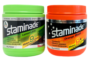 Staminade electrolyte powder flavours available at Coles