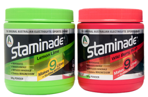 Staminade electrolyte powder flavours available at Woolworths