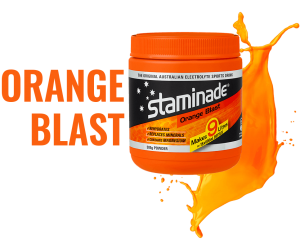 staminade sports drink powder orange blast flavour
