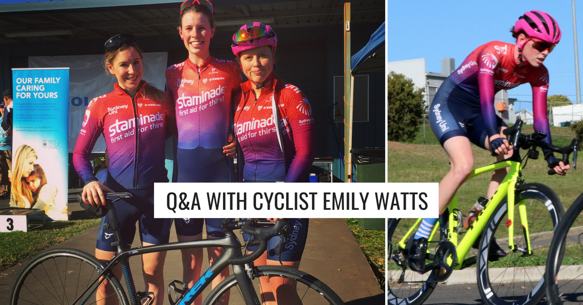 Q&A with Emily Watts – Sydney Uni Women's Cycling Team