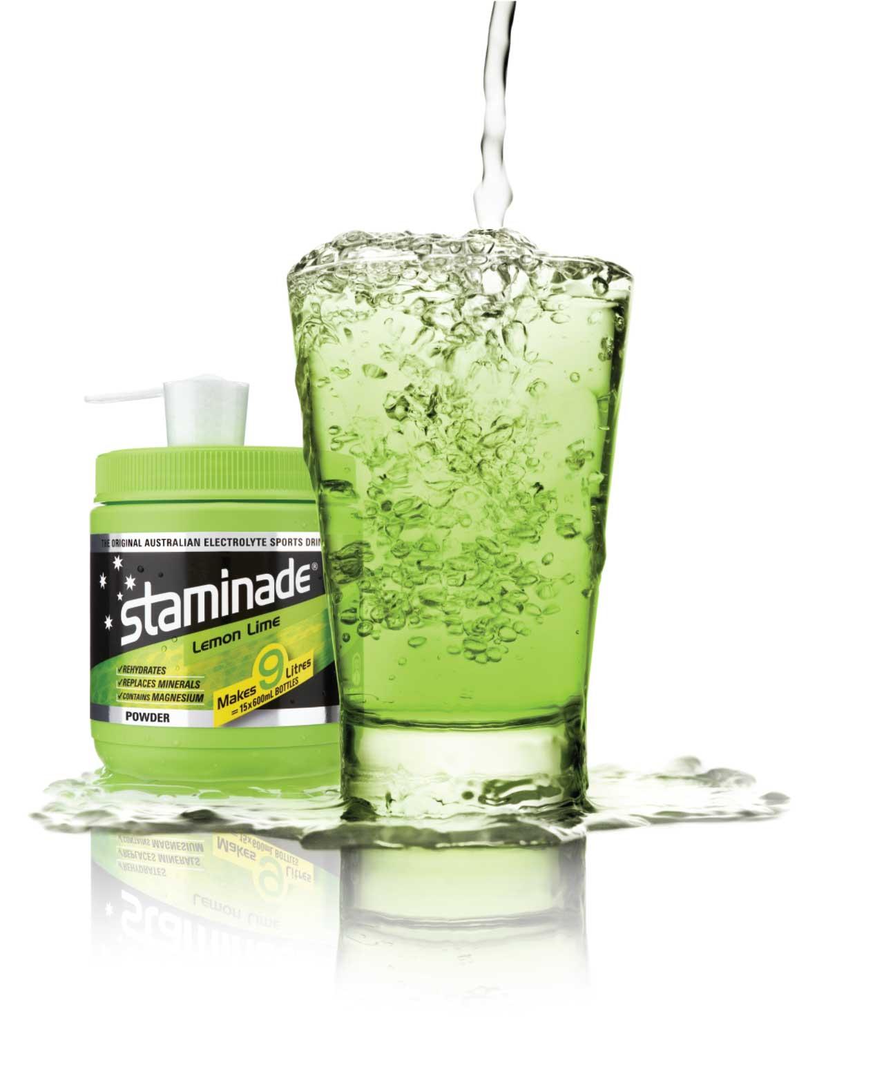 staminade sports powder drink in lemon lime