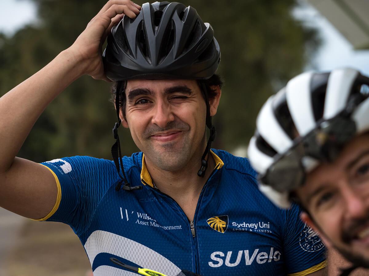 Sydney Uni Velo cyclist Matheus Pintaude