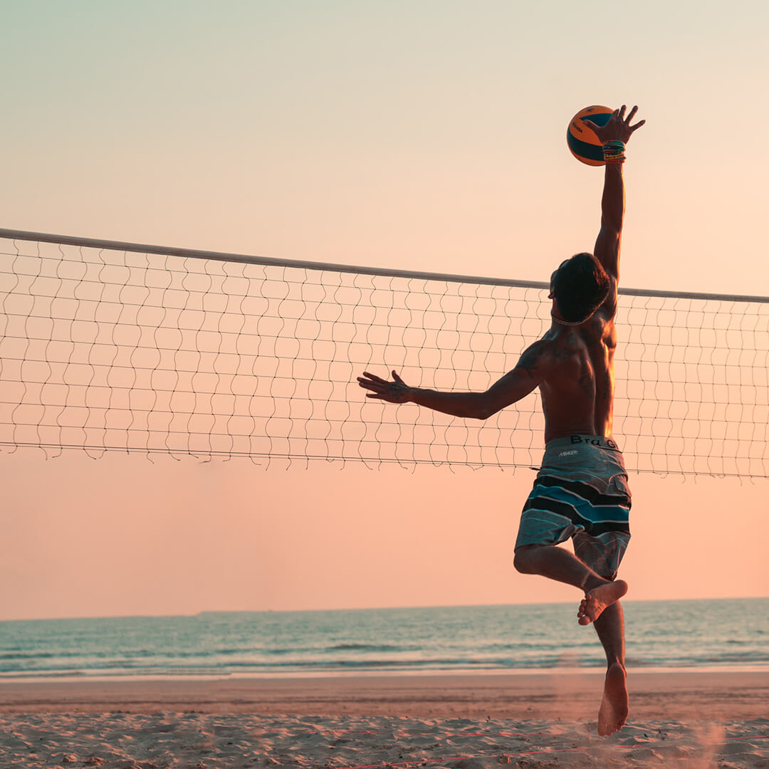 beach volleyball in summer