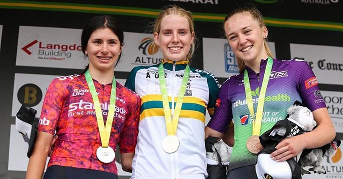 Sydney uni staminade cyclist Alyssa Polites