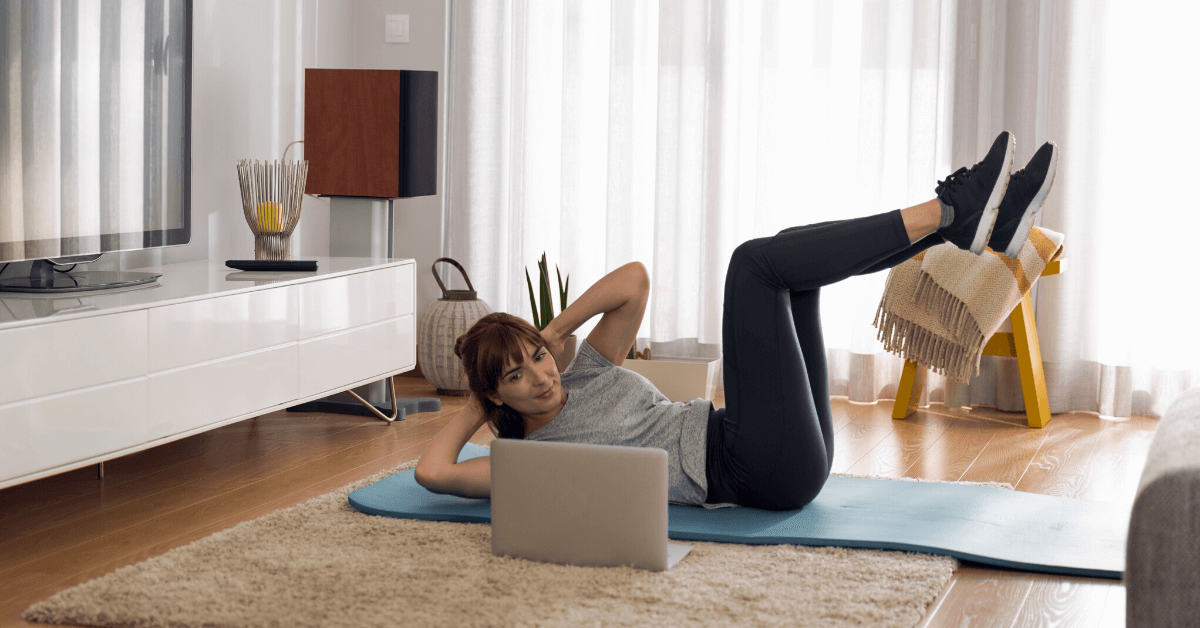 online exercise class at home