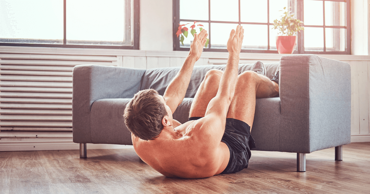 sit ups at home using couch