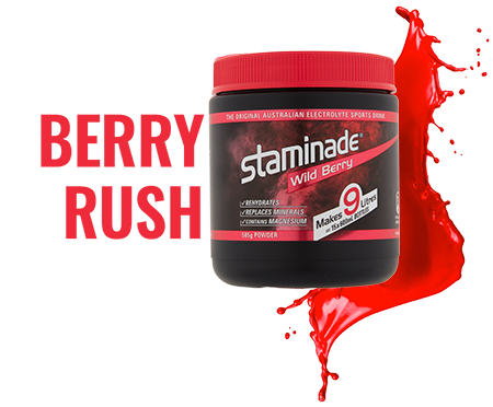 staminade tub berry rush flavour