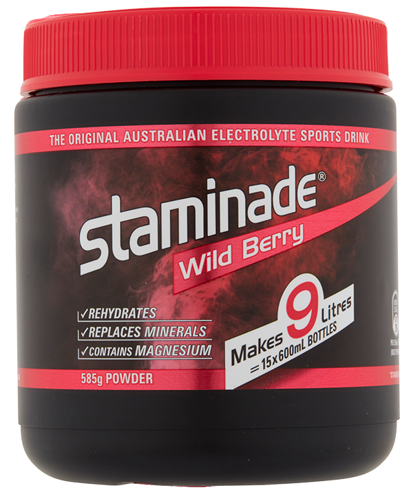 staminade tub berry rush flavour product