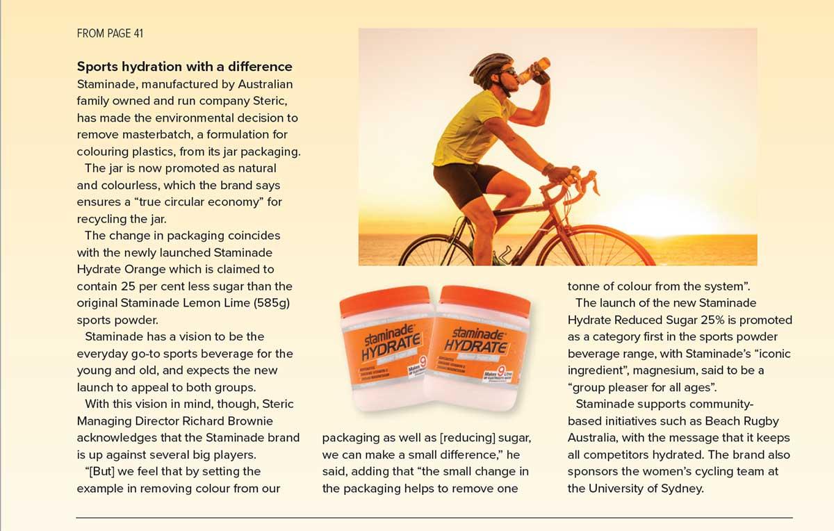 Staminade feature in Retail World magazine
